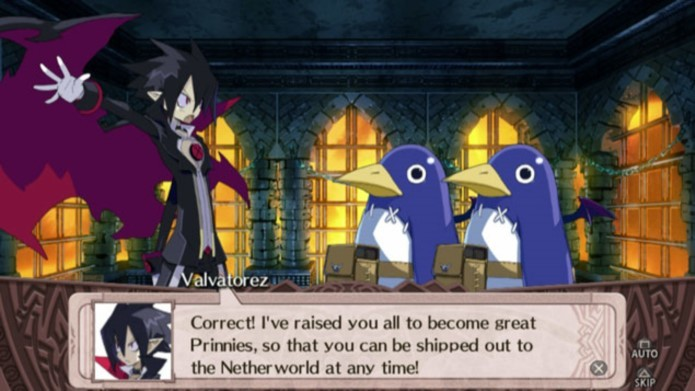 Val é instrutor de Prinnies, essas criaturinhas que parecem pinguins (Foto: Divulgação)