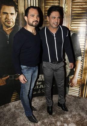 Luciano e Zezé Di Camargo em show em São Paulo (Foto: Celso Tavares/ EGO)