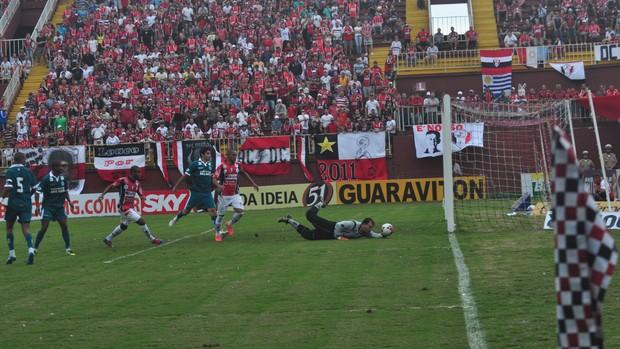 Gol do Joinville diante do Goiás (Foto: Divulgação / JEC)