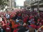 Sem o líder, milhares lançam novo mandato de Chávez na Venezuela