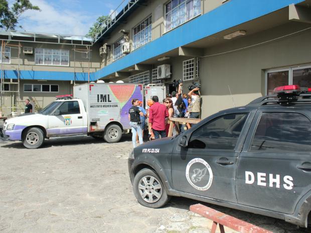 Caso ocorreu neste sábado no Instituto de Identificação da Polícia Civil (Foto: Jamile Alves/G1 AM)