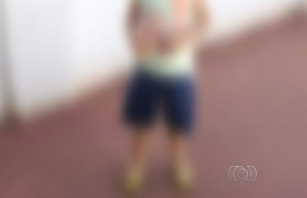 Filho da vítima, de 4 anos, presenciou a morte da mãe em Jataí, Goiás (Foto: Reprodução/ TV Anhanguera)