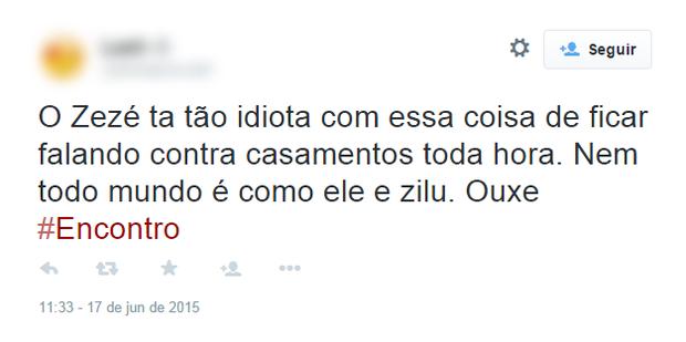 Comentários sobre declaração de Zezé Di Camargo (Foto: Reprodução/Instagram)