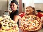 Hoje é Dia da Pizza! Solange Gomes e Geisy Arruda fazem receitas especiais