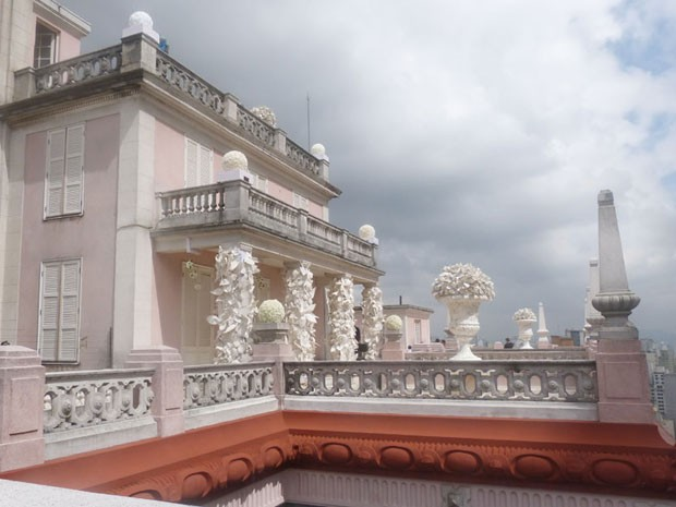 Edifício Martinelli tem mansão em seu topo (Foto: Amor à Vida/TV Globo)
