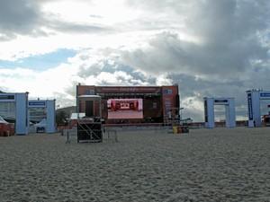palco fifa fan fest - rio de janeiro (Foto: Alícia Uchôa / G1)