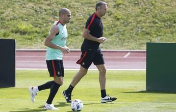 Pepe treina à parte novamente na antevéspera da final contra a França