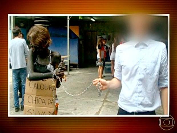 Após trote polêmico, aluno foi suspenso por um semestre pela UFMG (Foto: Reprodução / TV Globo)