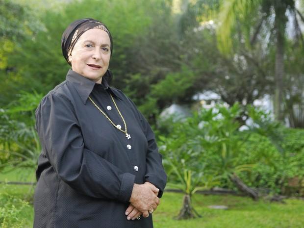 A atriz Tereza Rachel interpreta a personagem Rebeca na novela Caras & Bocas, de 2009 (Foto: João Miguel Júnior/Globo)