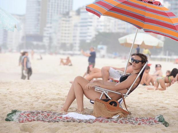 A Praia de Copacabana é o cenário da gravação (Foto: Raphael Dias/TV Globo)