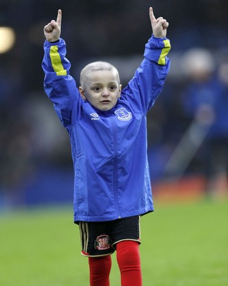 bradley lowery, torcedor do sunderland com câncer, no everton (Foto: Reuters / Lee Smith)