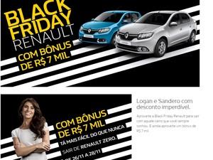 Renault terá ofertas na Black Friday (Foto: Reprodução)