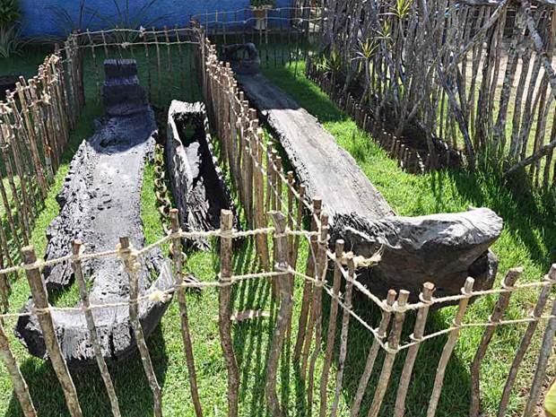 Canoas indígenas foram encontradas na Lagoa de Extremoz (Foto: Canindé Santos)