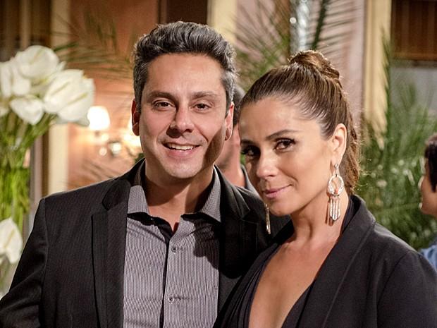 Stênio e Helô foram casados e viviam brigando (Foto: Raphael Dias / Gshow)