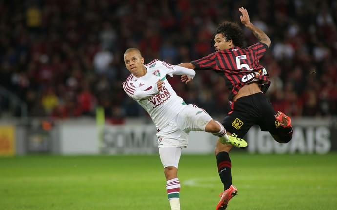 Atlético-PR Fluminense Arena da Baixada  (Foto: Giuliano Gomes/ Agência PRPRESS)