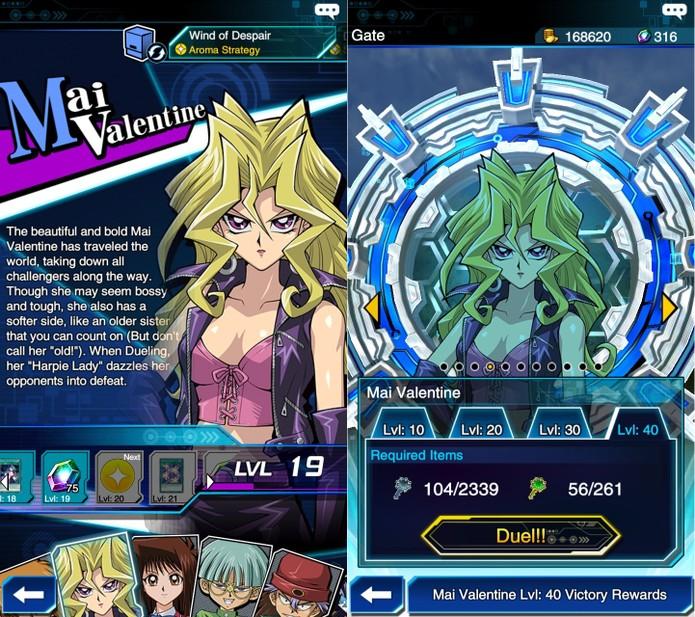 Yu-Gi-Oh! Duel Links: Mai Valentine é liberada no Stage 10 (Foto: Reprodução/Vinícius Mathias)