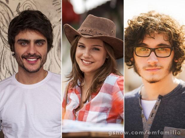 Guilherme Leicam, ALice Wegmann e Guilherme Prates voltam a trabalhar juntos  (Foto: Inácio Moraes / João Miguel / TV Globo)
