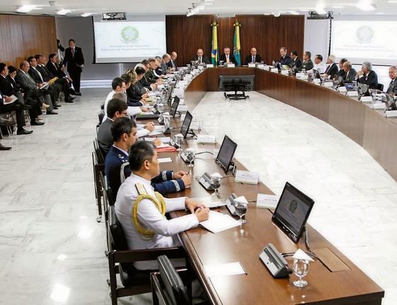 Reunião de governadores com o presidente Michel Temer.Se o crime é nacional o combate também deve ser (Foto: Beto Barata/PR)