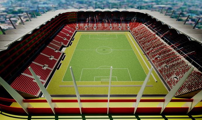 Arena América maquete eletrônica (Foto: Reprodução)