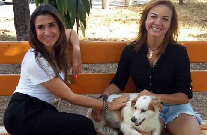 Dandinha revela sua paixão pelos animais e mostra o seu cão Bernardo (Foto: Rede Clube)