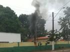 Caixa elétrica pega fogo em hospital e parte do prédio fica sem energia
