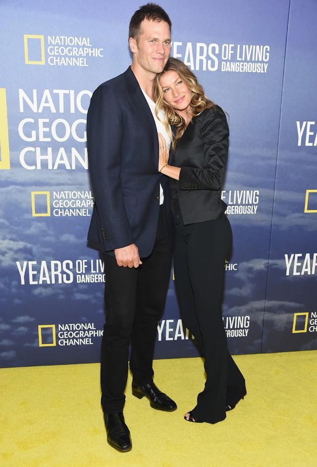 Gisele Bündchen e Tom Brady (Foto: Michael Loccisano/Getty Images)