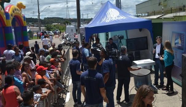 Primeira edição do 'Diário TV na Rua' (Foto: Reprodução / TV Diário)