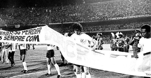 casagrande corinthians final paulista de 1983 democracia corintiana (Foto: Agência Estado)