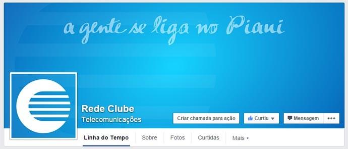 Siga o perfil da Rede Clube no facebook e saiba todas as novidades do Programão (Foto: reprodução/facebook)