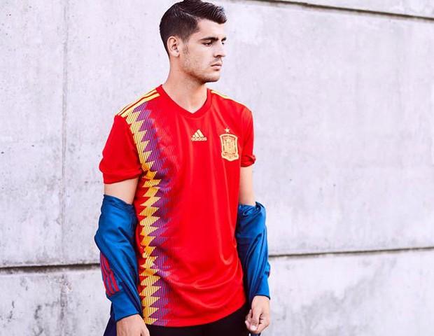 Uniforme da Espanha para a Copa de 2018 (Foto: reprodução)