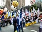 Sindicatos fecham Avenida Paulista em ato por direitos trabalhistas
