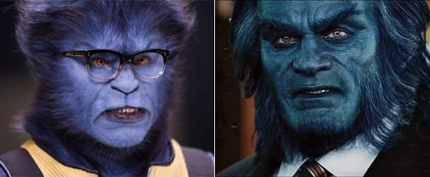 Nicholas Hoult e Kelsey Grammer já interpretaram o Fera (Foto: Divulgação/Reprodução)