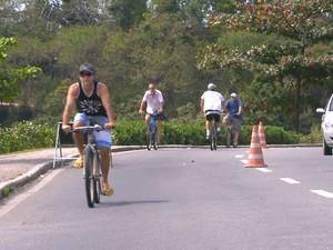 Bicicletas em Vitória (Foto: Reprodução/ TV Gazeta)