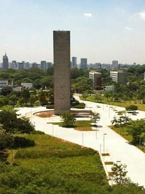 Cidade Universitária, Universidade de São Paulo: vista do novo prédio da Reitoria (Foto: Ana Carolina Moreno/G1)