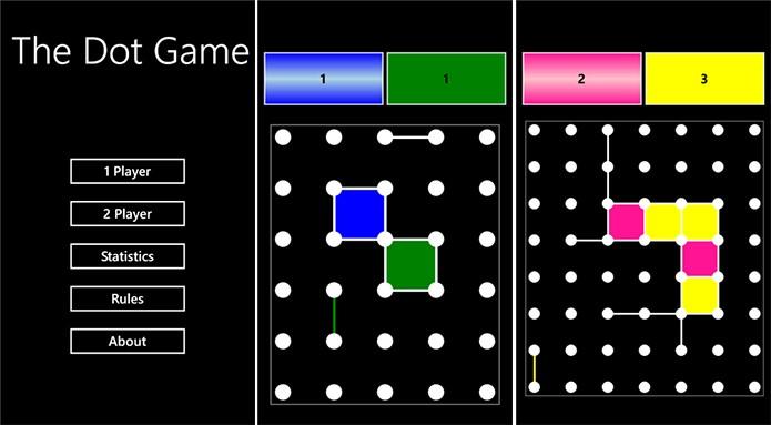 The Dot Game é um jogo clássico para Windows Phone onde você deve formar quadrados para ganhar (Foto: Divulgação/Windows Phone Store)
