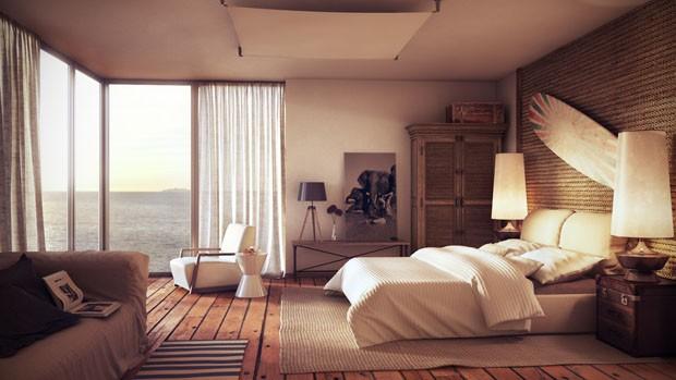 Décor do dia quarto na praia Casa Vogue Décor do dia