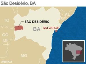 São Desidério, Bahia (Foto: Arte/G1)