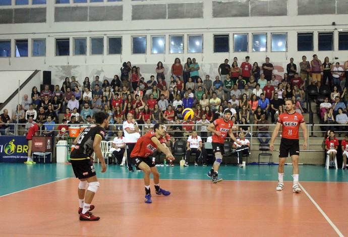 Sesi-SP São Bernardo Superliga vôlei (Foto: JulyStanzioni/SMPRESS)