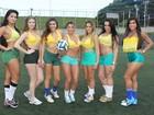 Candidatas a Gata da Copa mostram suas habilidades no futebol