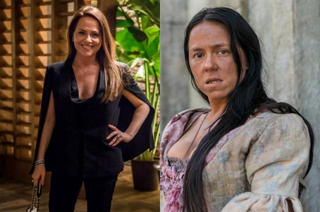 Vivianne Pasmanter em 'Totalmente demais' e em 'Novo mundo' (Foto: TV Globo)