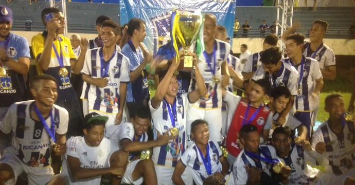 Ricanato é o campeão do Tocantinesne Sub-18 2016 (Foto: Érica Picelli/ TV Anhanguera)