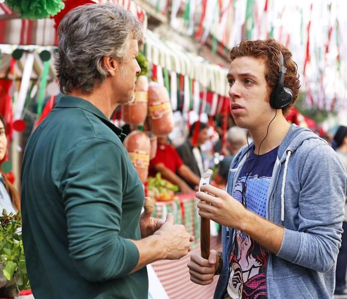 Marcello Novaes e João Côrtes interpretam pai e filho em 'Sol Nascente' (Foto: Ellen Soares/Gshow)