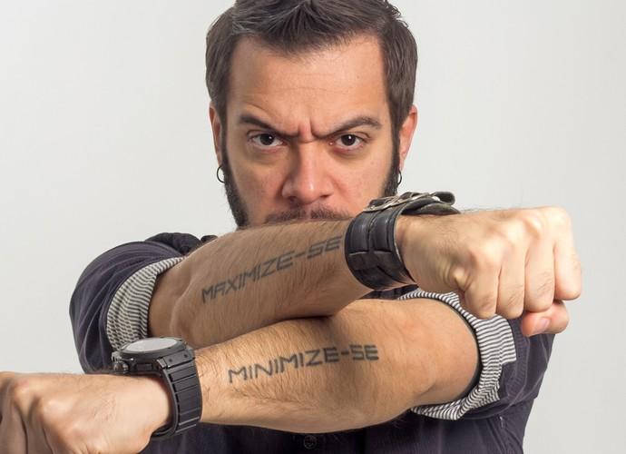 Max e suas tattoos: ex-BBB quer 'maximizar' as chances dos candidatos (Foto: Arquivo pessoal)