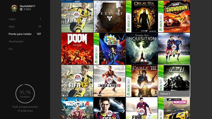 Encontre o Fallout 3 nas suas listas de jogos (Foto: Reprodução/Murilo Molina)