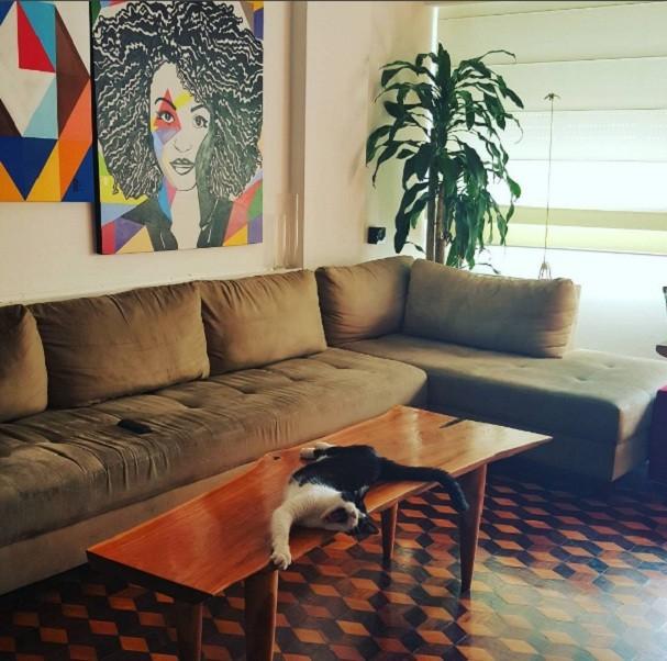 A sala da atriz Sheron Menezzes (Foto: Reprodução/Instagram)