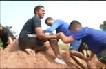 Desafio dos Gigante ressalta o espírito coletivo entre os atletas (Reprodução/TV Anhanguera)