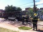 Dois suspeitos de atear fogo em ônibus em Ipatinga são detidos