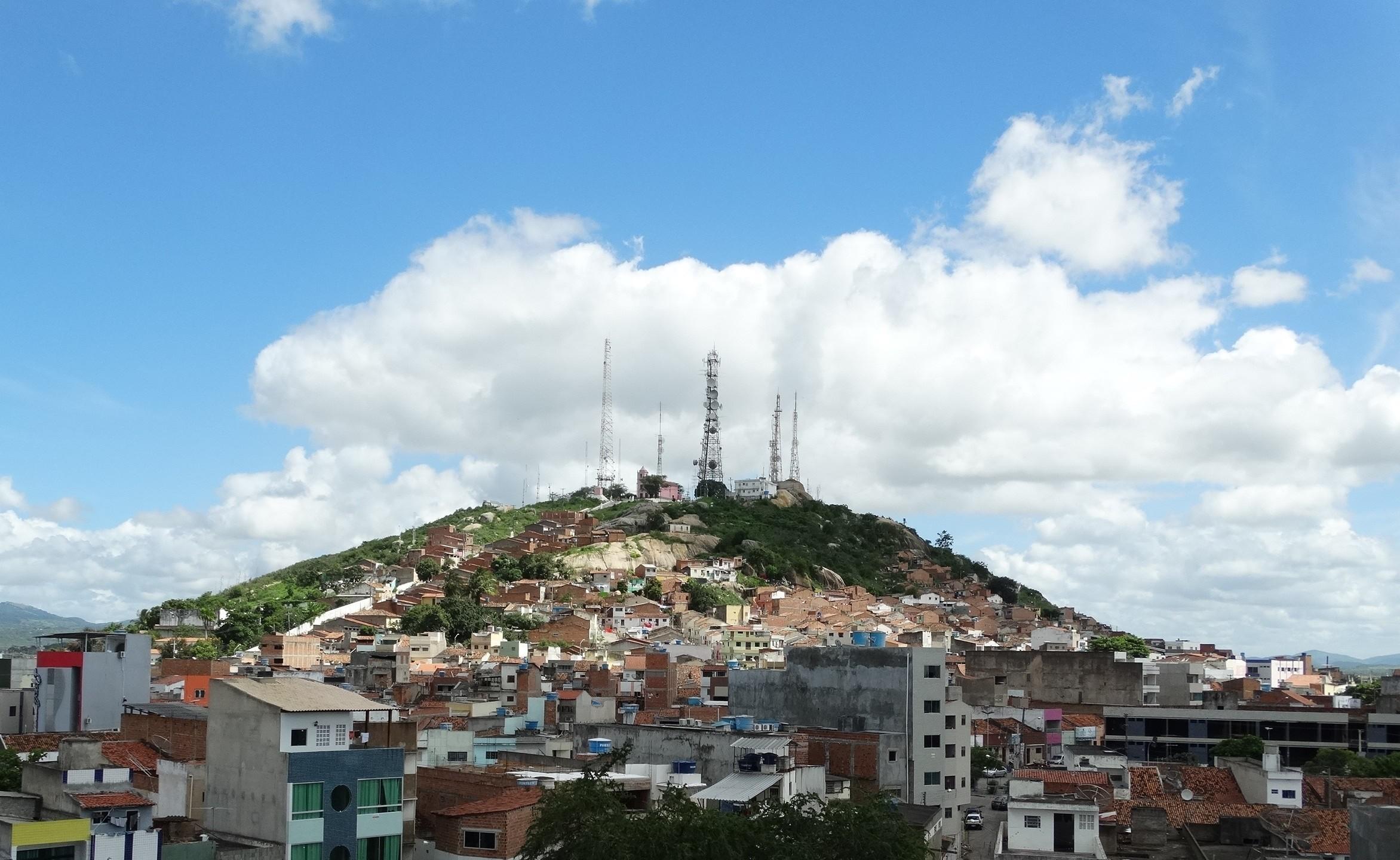 Monte do Bom Jesus, em Caruaru, Pernambuco (Foto: Cecília Morais/ G1)
