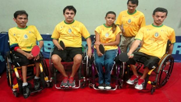 Atletas cearenses que se classificaram para o Parapan de tênis de mesa (Foto: Divulgação/Sesporte)
