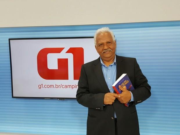 O candidato Dr. Hélio (PDT) durante entrevista ao G1, em Campinas (Foto: Fernando Pacífico/G1)